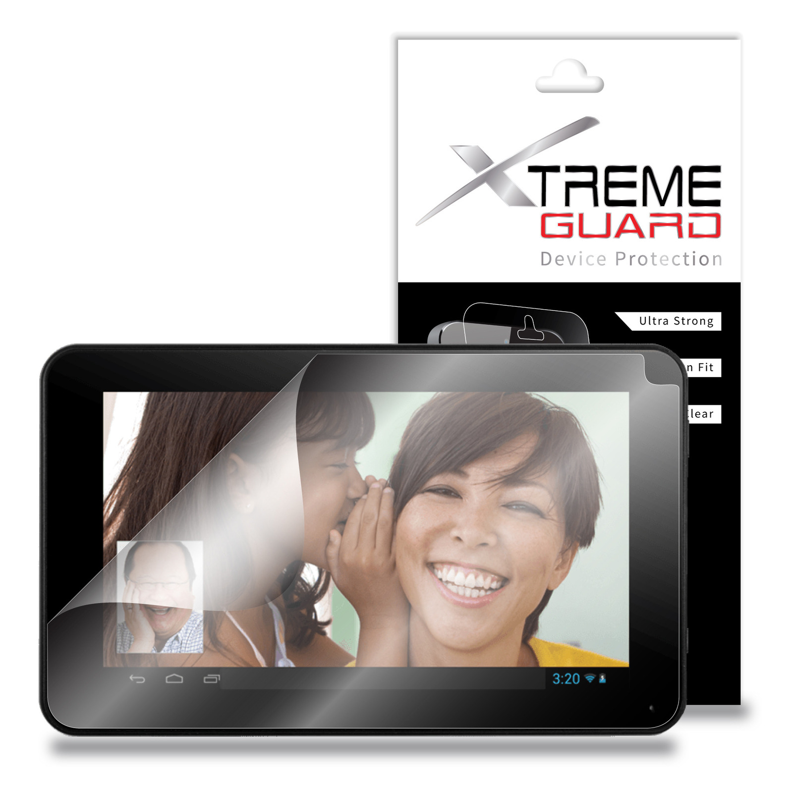 "XtremeGuard Screen Protector Front and Back for RCA 7"" Tablet 16GB Quad Core"
