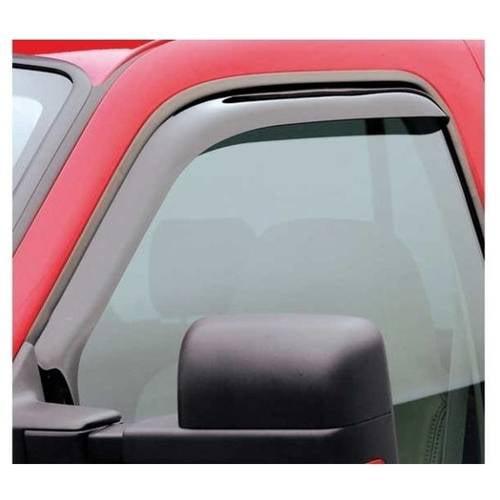 Egr 09-13 Ram 1500/10-13 Ram 2500/3500 Std Cab 2-Piece In Channel Slimline Windowvisors, Dark Smoke