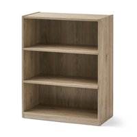 "Mainstays 31"" 3 Shelf Bookcase, Rustic Oak"