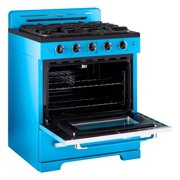 Classic Retro 30 3.9 Cu. Ft. Gas Range With Convection Oven In Robin Egg Blue