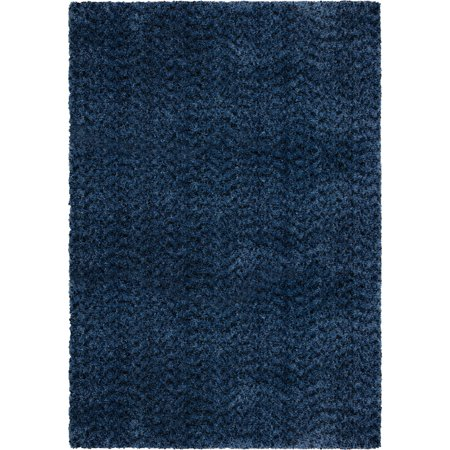 Adderley Talisman Area Rugs - 8304 Shag & Flokati Blue Single-Color Plush Comfy Fluffy (Adderley Antique)