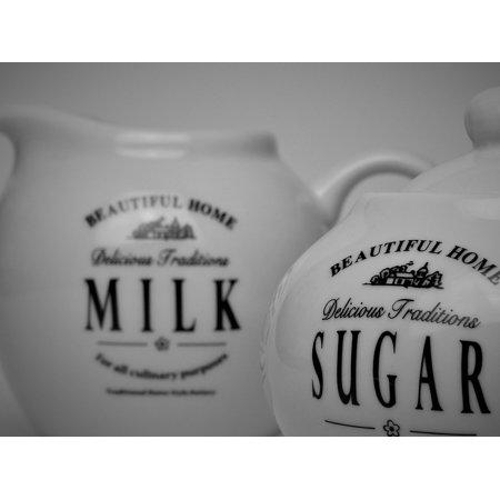 LAMINATED POSTER Cafe Milk Jug Sugar Sugar Bowl Milk Coffee Poster Print 24 x 36 (Halloween Decorations Milk Jugs)