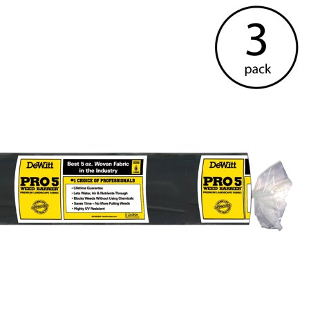 - DeWitt P3 3' x 250' 5 Oz Pro 5 Commercial Landscape Weed Barrier Fabric (3 Pack)