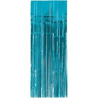 Caribbean Blue Foil Door Curtain (1ct)