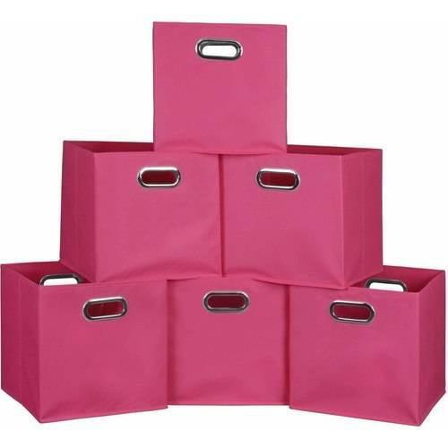 Niche Cubo Set of 3 Foldable Fabric Storage Bins, Set of 6, Multiple Colors