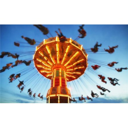 Giant Swing At An Amusement Park Poster Print by Don Hammond, 34 x 22 - Large - image 1 de 1