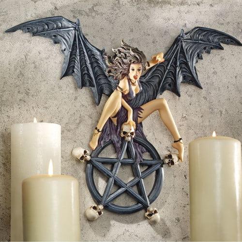 Design Toscano Temptress Traci Plaque Pentagram Wall D cor