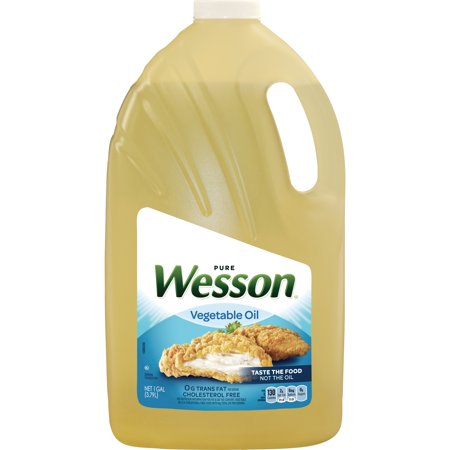 wesson vegetable pure natural oil 1 gal walmart com