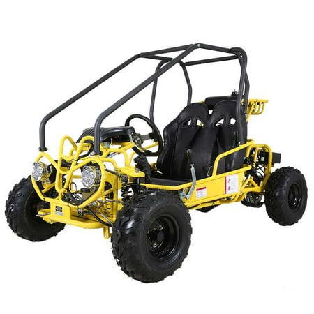 Youth GoKart by FamilyGoKarts Yellow GK110 Youth Go Kart