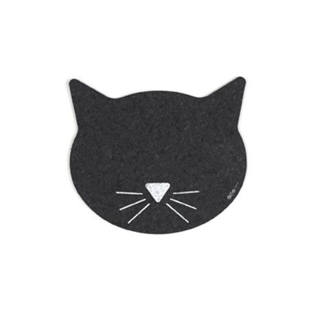 - ORE Pet Recycled Rubber Cat Face Placemat