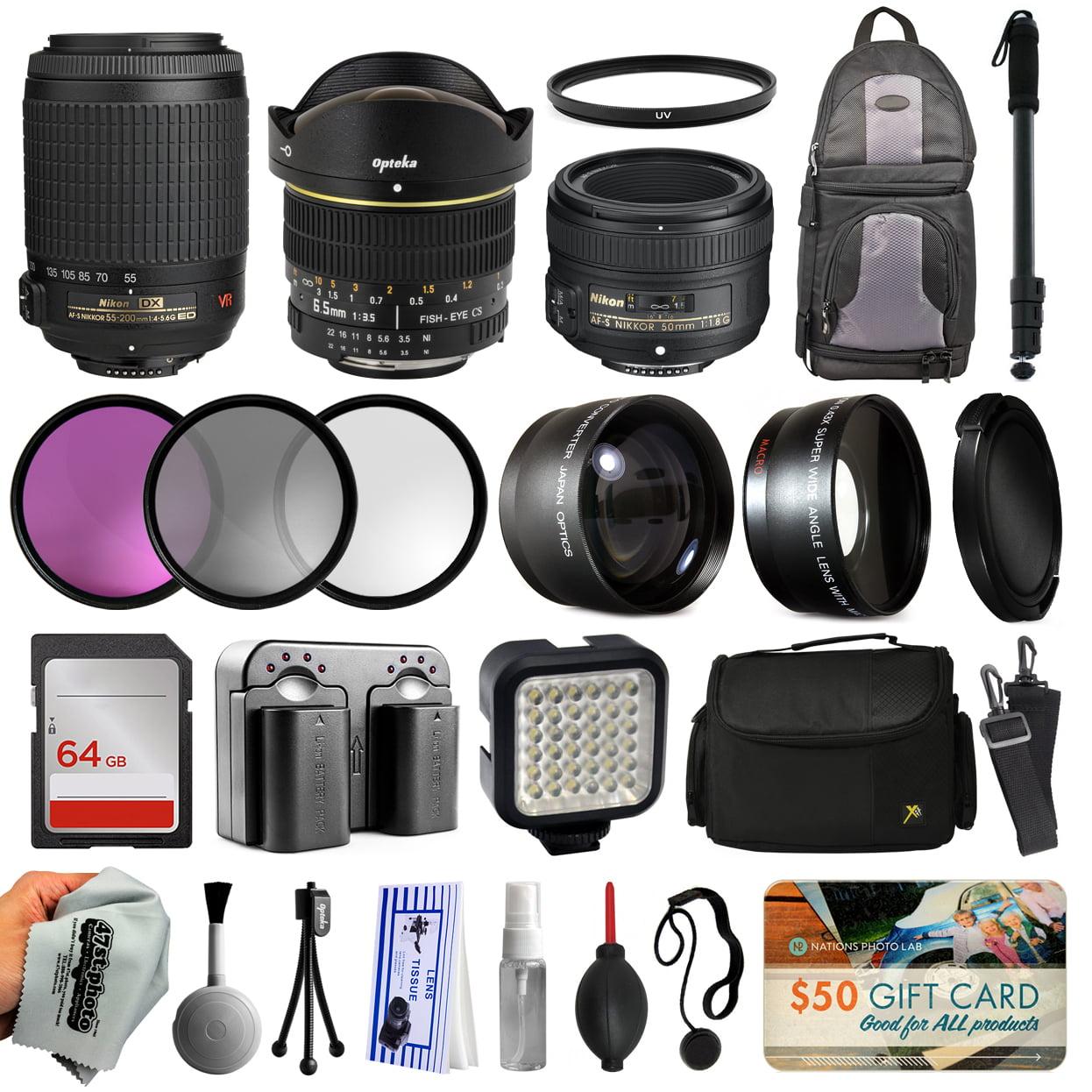 Opteka Ultimate Lens Accessory Bundle with Nikon VR 55-20...