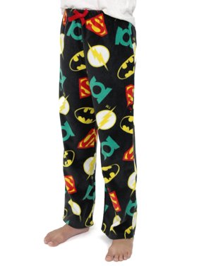 Justice League Boys Plush Fleece Lounge Pajama Pants 21JL078BPT