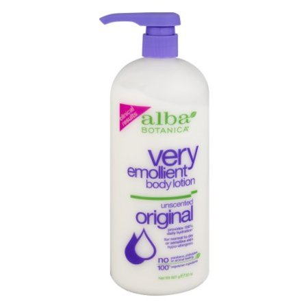 Alba Botanica Very Emollient Unscented Body Lotion 32 Ounce