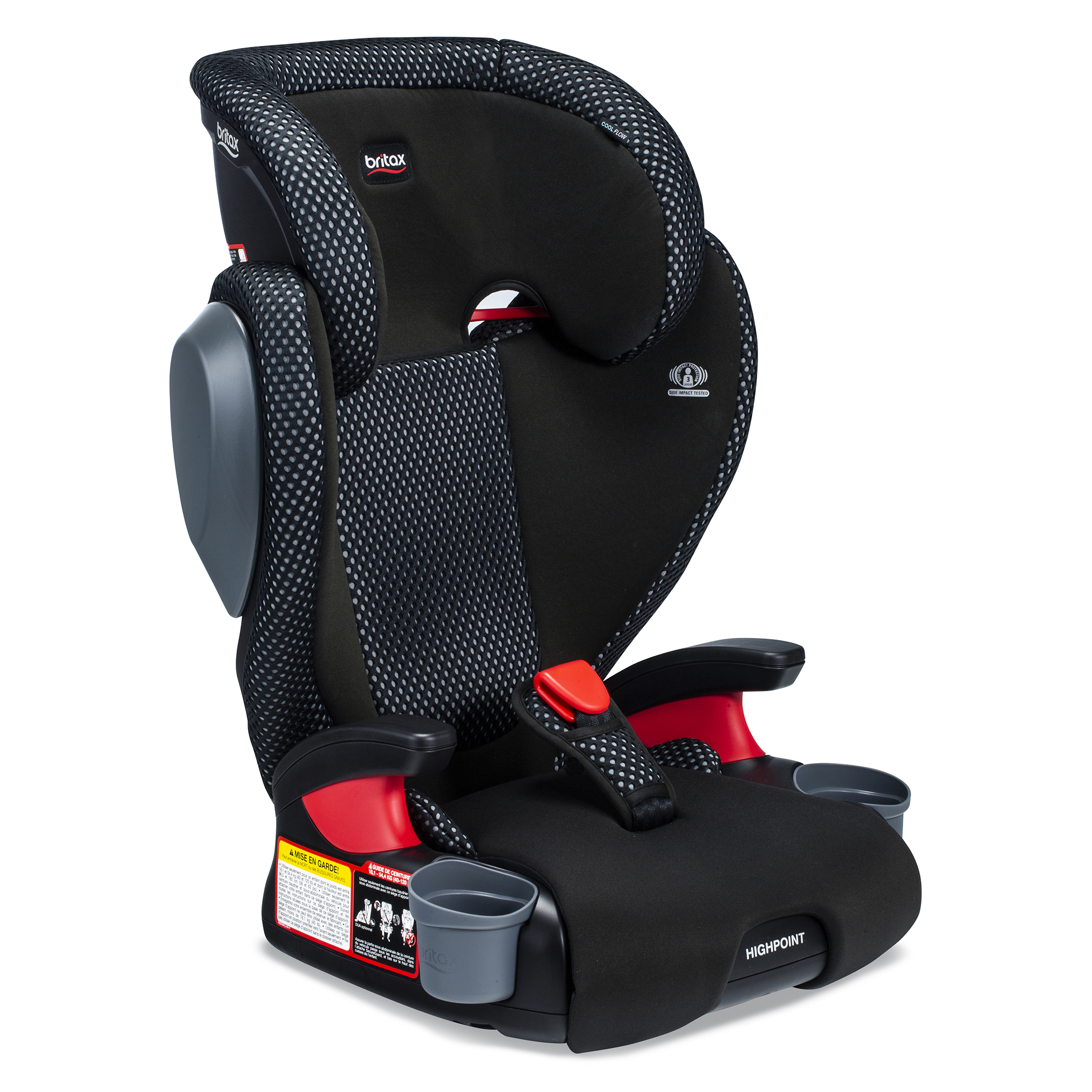 Britax Highpoint Cool Flow Belt-Positioning Booster Seat, Grey