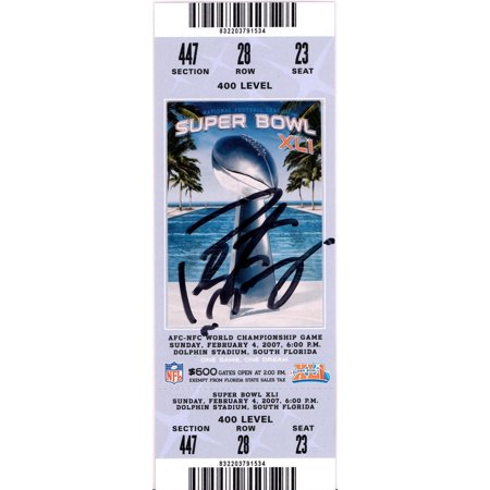 Peyton Manning Indianapolis Colts Autographed Super Bowl XLI Ticket - Fanatics Authentic Certified