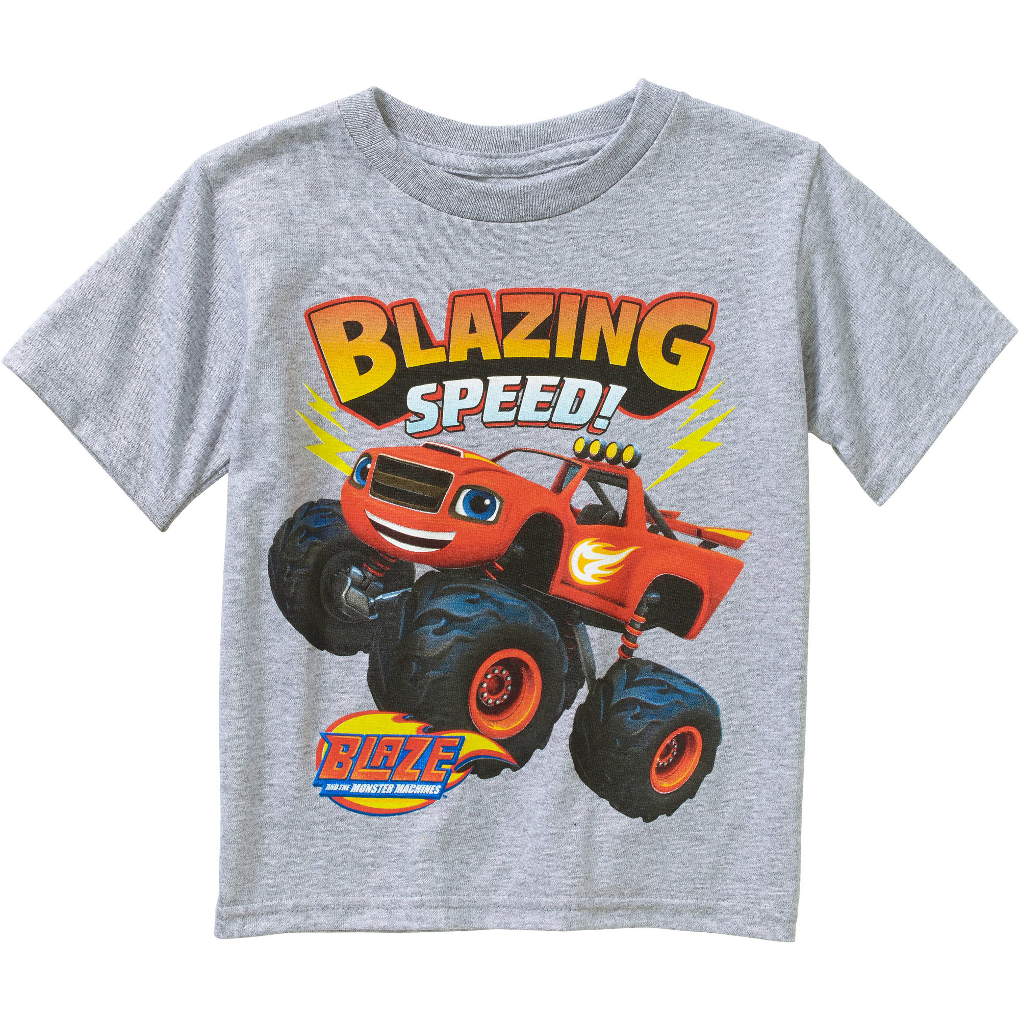 Nickelodeon Blaze and the Monster Machines Toddler Boy Short Sleeve Graphic Tee Shirt
