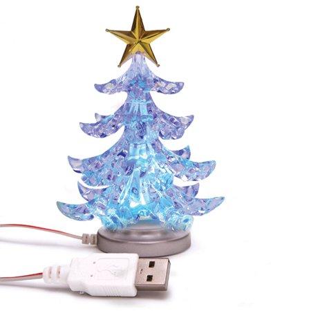 Color Changing USB Powered Miniature Christmas Tree w/ LEDs ()