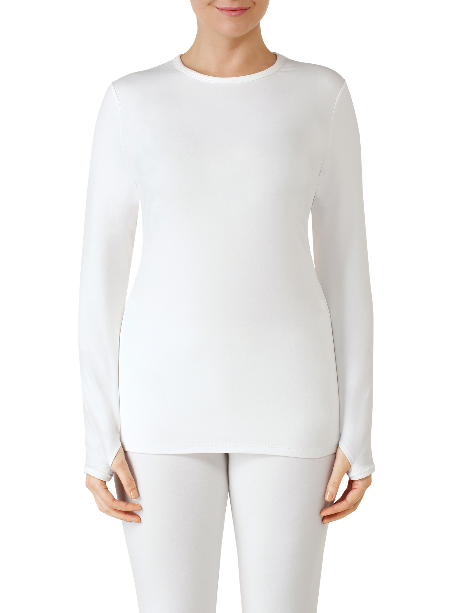 ClimateRight by Cuddl Duds Women's Sueded Warmth Warm Long Underwear Top by