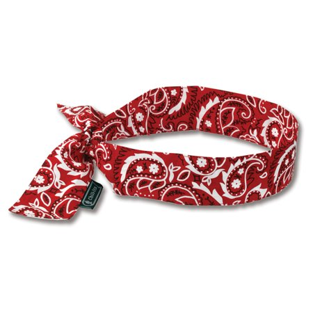 Chill-Its 6700 Evaporative Cooling Bandana - Tie - Red Western (6700 Evaporative Cooling Bandana)
