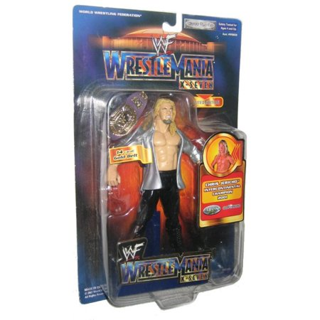 Wwf Wrestlemania X Seven Chris Jericho Champion  2001  Wwe Jakks Pacific Figure