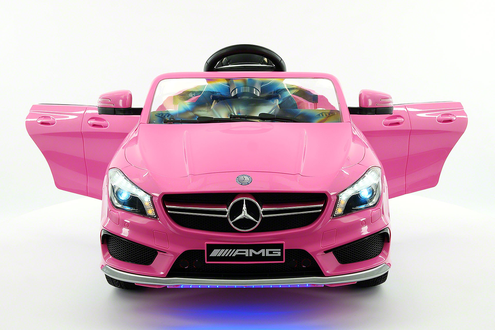 Mercedes CLA45 AMG 12V Kids Ride-On Car with Parental Remote | Pink by Moderno Kids