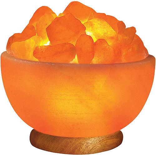 Himalayan Ionic Salt Crystal Bowl Lamp - Walmart.com