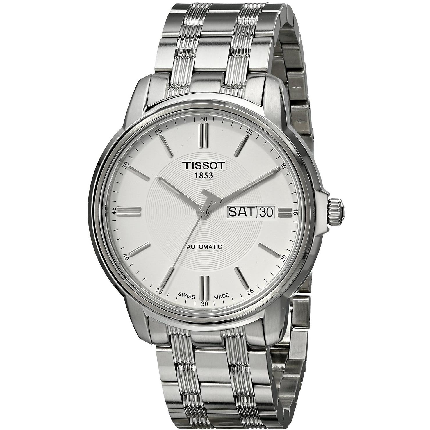 Tissot Men's Automatic III 40mm Steel Bracelet & Case Whi...