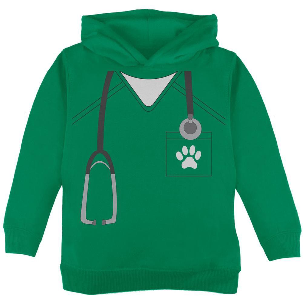 Halloween Vet Veterinarian Scrubs Costume Green Toddler Hoodie