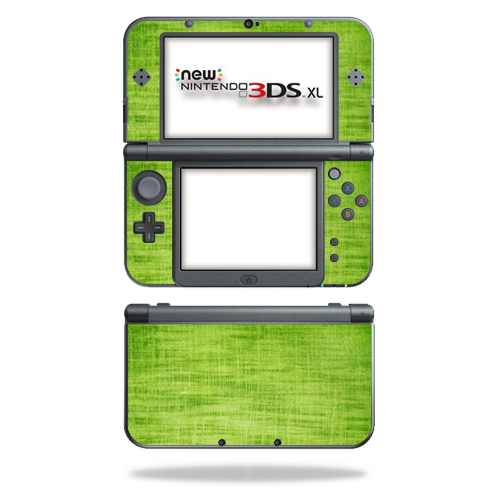 MightySkins Protective Vinyl Skin Decal for New Nintendo 3DS XL (2015) Case wrap cover sticker skins Green Fabric