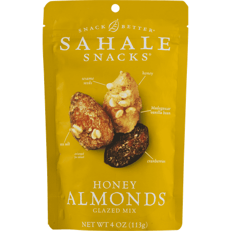 Salt Glaze Crock - Sahale Snacks Glazed Nuts Almonds With Cranberries, Honey + Sea Salt, 4 Ounce Pouches