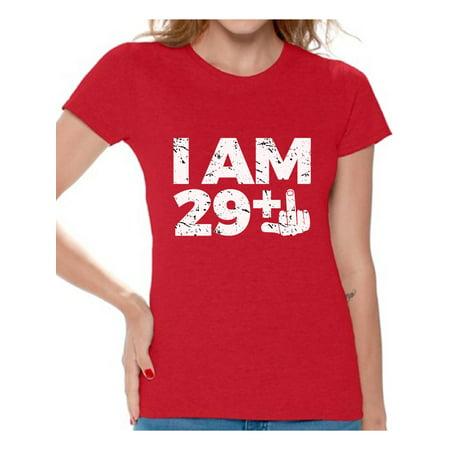 b5ffa8c2 Awkward Styles I Am 29 Tshirt Funny Birthday Shirts for Women Awesome Thirty  Year Old Thirty Shirt Birthday Gifts for Women BDay Party Thirtieth Birthday  ...