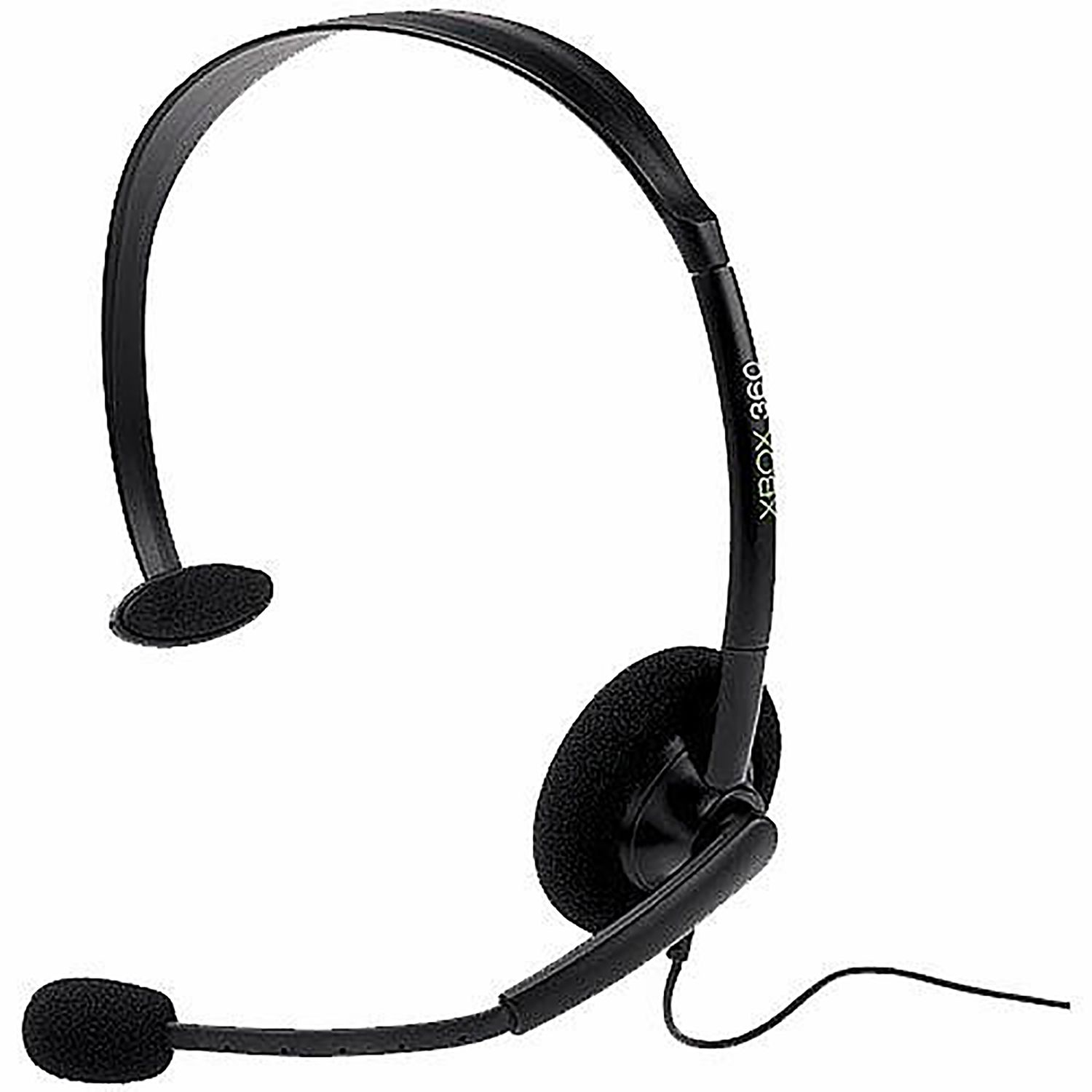 Microsoft Wired Headset With Boom Mic For Xbox 360, Black