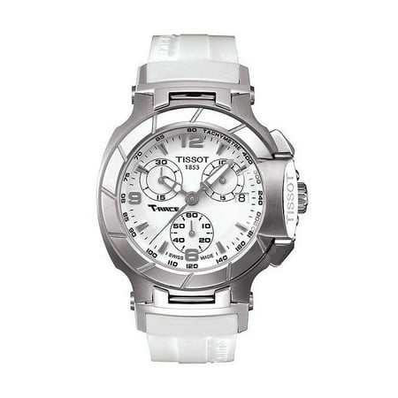 d6365fc76 Tissot - T-Race T0482171701700 40 Stainless Steel Case White Rubber Women's  Quartz Watch - Walmart.com