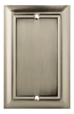 Brainerd Mfg Co Liberty Hdw W18195-SN-U Blank Wall Plate, 1-Gang, Architectural, Satin... by BRAINERD MFG CO/LIBERTY HDW