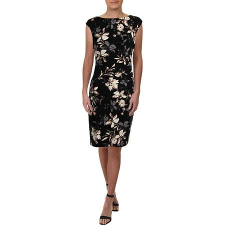 Lauren Ralph Lauren Womens Jersey Floral Print Cocktail (Multi Print Jersey Dress)