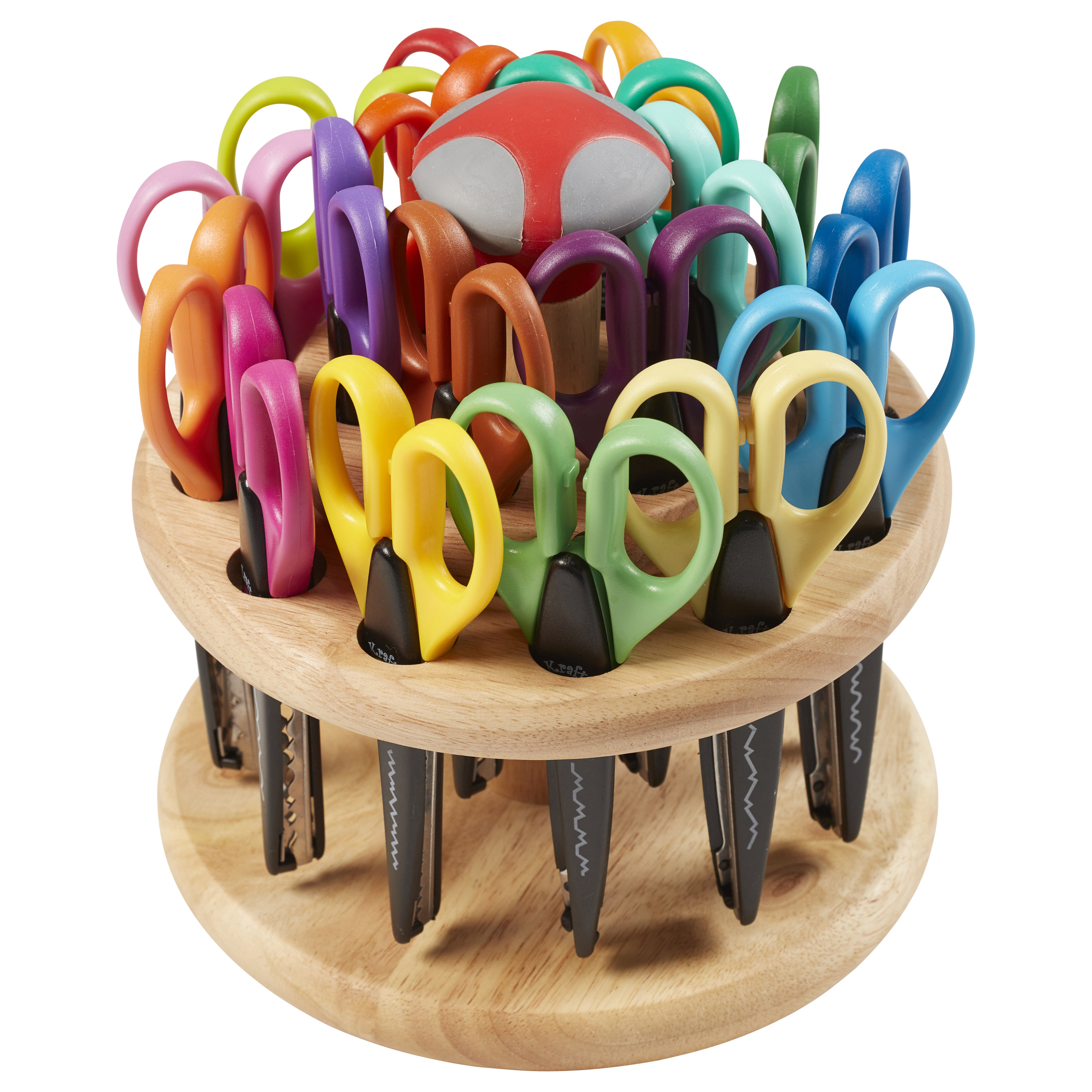 Kraft Edgers Scissors with Hardwood Rack 18-Piece by ECR4Kids