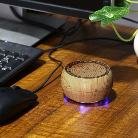 Portable Mini Wooden Chess Wireless Bluetooth Speaker Support Tf Card Stereo Super Bass Speakers Handfree Gift
