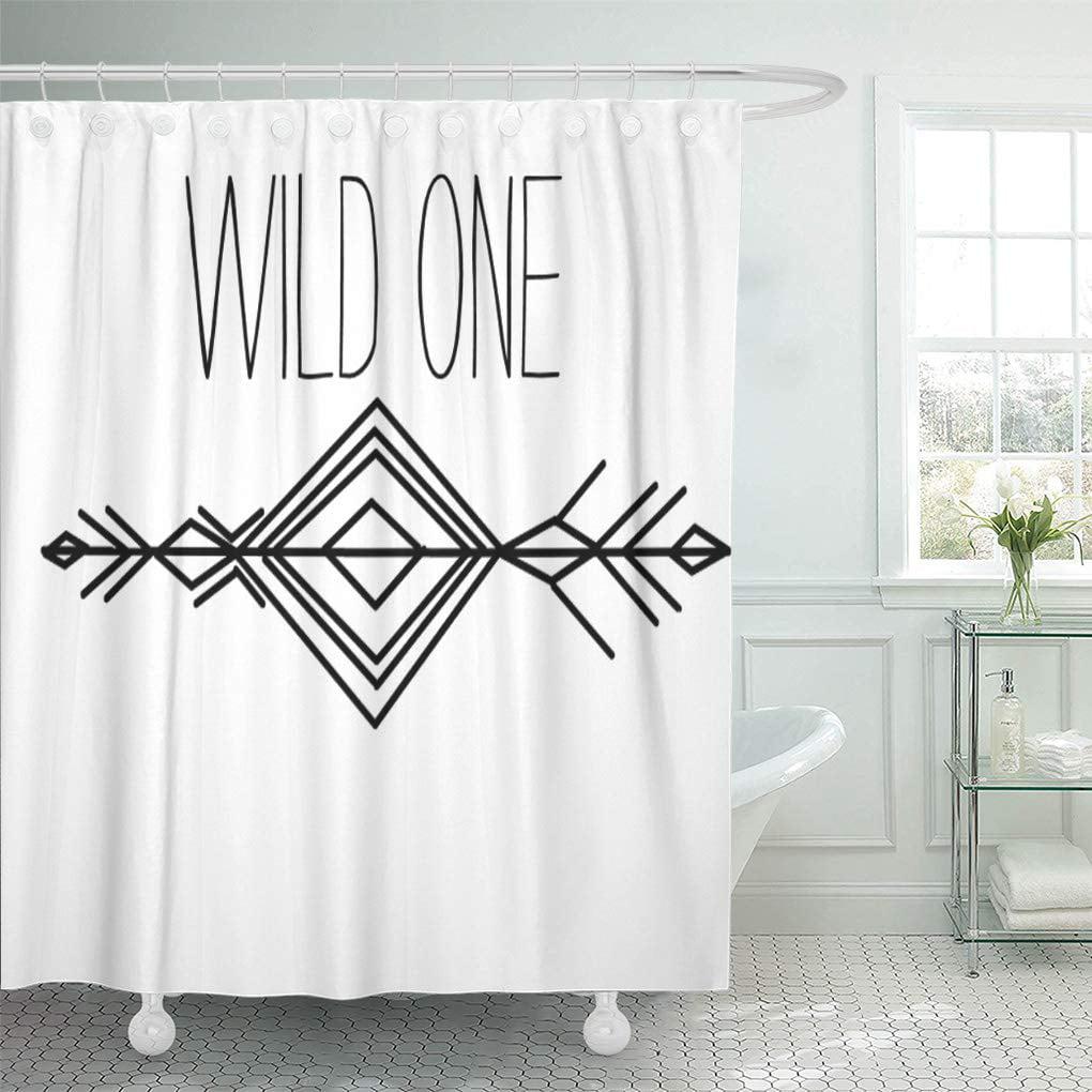 Yusdecor Bohemian Boho Tribal Wild Aztec Kids Nursery Boy Bathroom Decor Bath Shower Curtain 60x72 Inch Walmart Canada