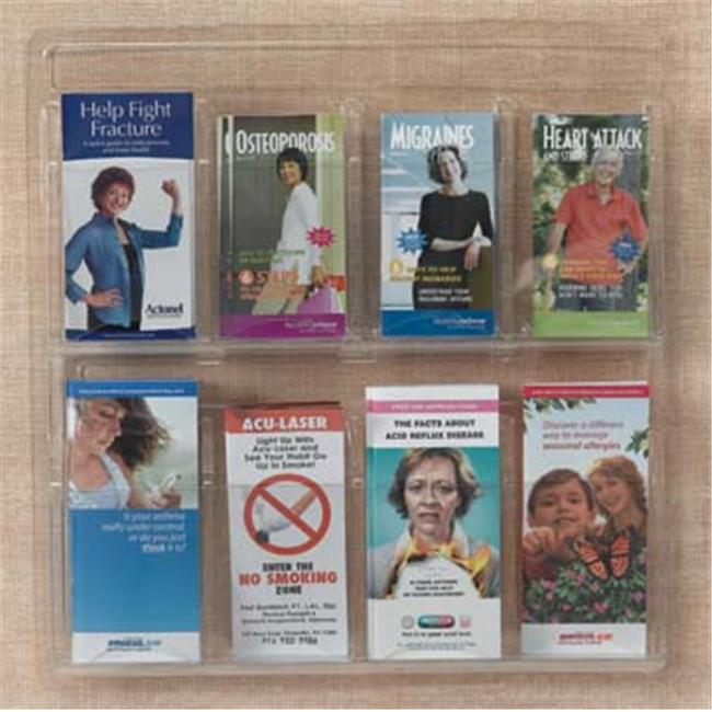 AARCO Products LRC116 Clear-Vu Pamphlet Display 1 Pamphlet Pockets