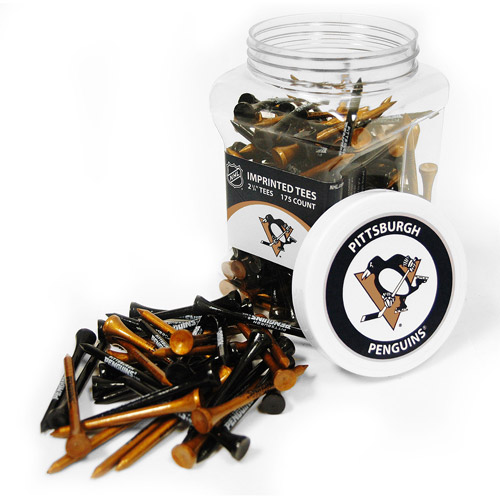 Team Golf NHL Pittsburgh Penguins Jar Of 175 Golf Tees