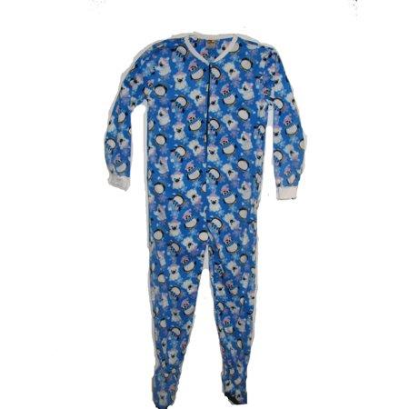 Pajama Fun Prints Footed One Piece Pajamas- Penguins & Polar Bears