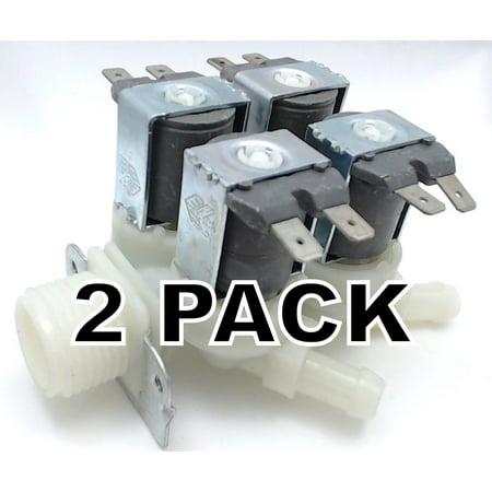 2 Pk, Washing Machine Water Valve for LG, AP4441122, PS3527429, 5220FR2008C Brand New, Pack of 2, washing machine water valve replaces LG Appliances, 5220FR2008C.