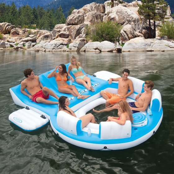 Intex Relaxation Island Lounge 6 Person Raft Walmartcom