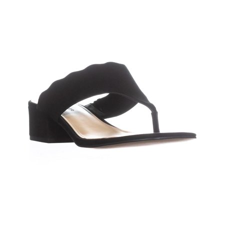 Marc Fisher Veva Dress Thong Sandals, Black - image 6 of 6