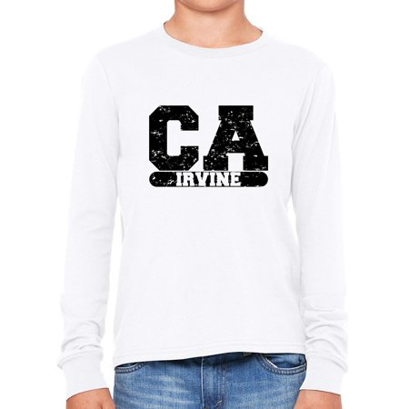 Irvine, California CA Classic City State Sign Boy's Long Sleeve T-Shirt