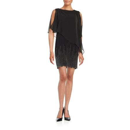 Embellished Popover Dress - Bebe Party Dress
