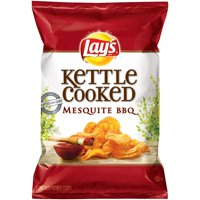 Lay's Kettle Cooked Mesquite BBQ Potato Chips 2.875 oz. Bag