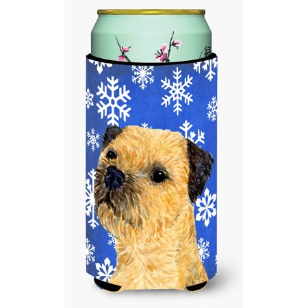 Border Terrier Winter Snowflakes Holiday Ultra Beverage Insulators for slim cans LH9278MUK](Winter Borders)