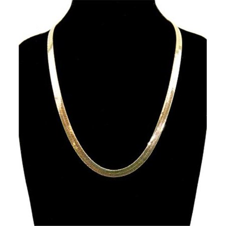 7 mm & 20 in. 14K Gold Plated Herringbone Chain Necklace