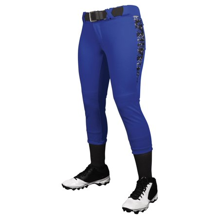 Digi Pant - Champro Girls Digi Camo Low Rise Fastpitch Pants NEW! - Royal - X-Large